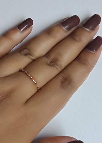 Orange Sapphire Ring Gemstone Micro Pave Thin Wedding Band Stacking Rings Engagement September Birthstone Ring