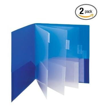 Smead Campus.org Poly Subject File Folder, 10 Pockets, Letter Size, Assorted Colors (89203) (2-Pack)
