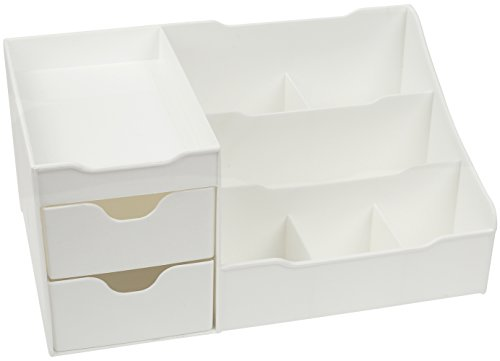 Mantello Makeup Organizer Vanity Organizer with Drawers, White by Mantello (Image #4)