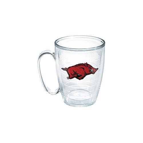 Tervis 1048741 Arkansas University Emblem Individual Mug, 16 oz, Clear