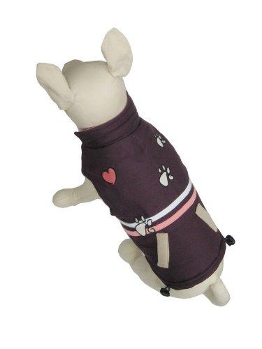 Petelligence Strip Dog Jacket, Small, Purple