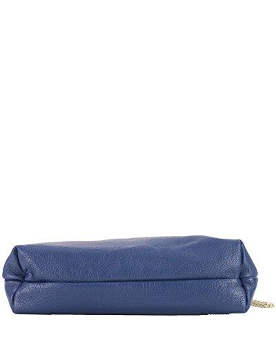 histoireDaccessoires - Bolso con Bandolera de Cuero de Mujer - SA150833GF-Alberto Azul oscuro