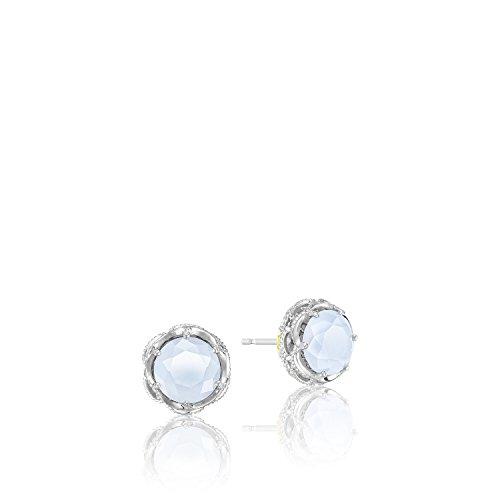 Tacori SE10503 Classic Rock Sterling Silver Chalcedony Stud Earrings (Tacori Earrings 18k)