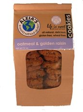 Aleia's Gluten Free Foods Cookies, Oatmeal Raisin, Gf, 9-Ounce (Pack of 3)