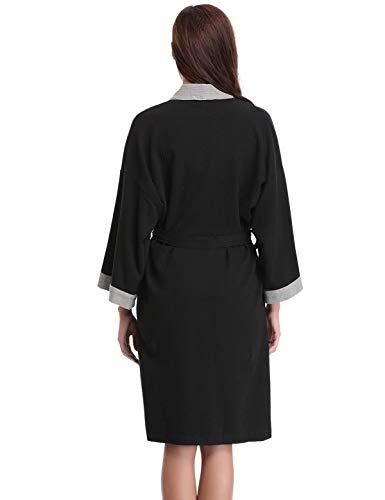 Kimono Aderezo mujer Waffle Abollria de Algod Vestido qxf6n8zZw