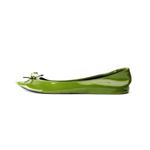 pliables patent femme vert dans les disponibles ruban tailles oliv jusqu' avec Chaussures Ballerines cqXAZEA