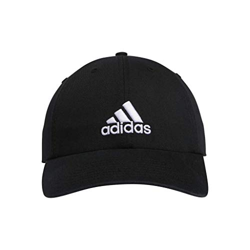 adidas Men's Ultimate Relaxed Adjustable Cap, Black/White, ONE SIZE (Mens Strapback Hats)
