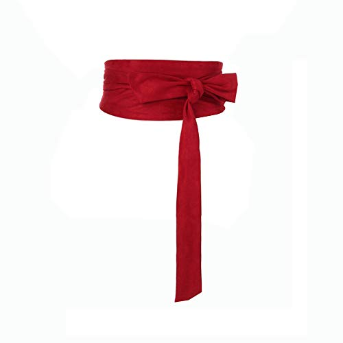 Women Wide Bow Obi Belt Sash Tie Cinch Waist Strap