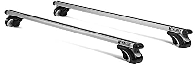 "53"" Universal Locking Roof Rack Crossbars by Vault - Carry Your Canoe, Kayak, Cargo, and Other Gear Safely With Our Aerodynamic Design - Perfect to Mount Onto Your Rooftop of Your Car or SUV"
