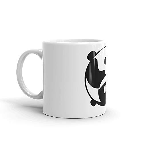 (Yin and Yang- Panda and Orca Mug 11 Oz White Ceramic)