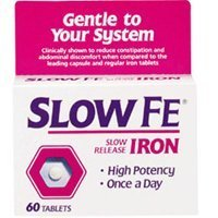 (Slow Fe, High Potency Iron 45 mg, Slow Release - 60 Tablets)