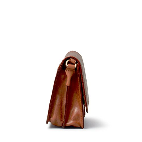 Borsa da donna di lusso piccola in pelle marrone chiaro (Lucca)