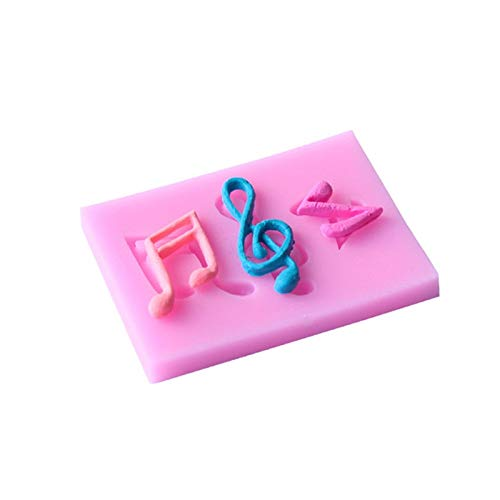 Baking Tools - Cartoon Music Notes Shape 3d Silicone Cake Molds Diy Ice Cube Tray Candy Chocolate Soap Baking - Kids Icing 10 Scraper Cute Mixer Age Gifts Girls Under
