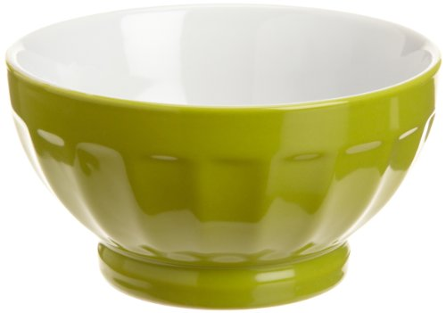 (BIA Cordon Bleu 16-Ounce Fluted Bowl, 2 Tone, Set of 4, Chartreuse)