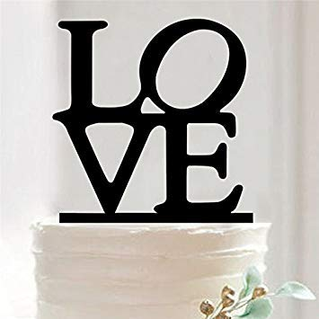 Wedding Cake Toppers acr/ílico personalizado alfabeto Mr /& Mrs boda de silueta para tarta de Boda Decoraci/ón Style/_A 1 unidad acr/ílico