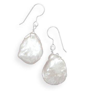 Cultured Baroque Pearl Earrings - 3