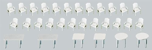 Faller 272441 Garden Chairs//Tables 30//N Scale Scenery and Accessories Gebr FALLER GmbH