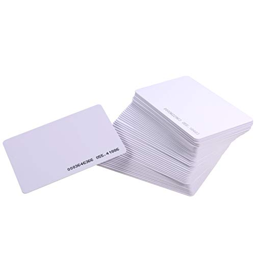 HWMATE Contactless 125Khz EM RFID Proximity ID Smart Entry Access Card for Access Control Time Attandance (100 Pack)