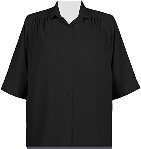 A Personal Touch Black Peachskin Women's Plus Size Blouse