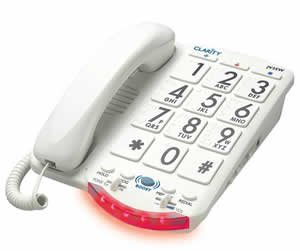 Clarity JV35W Amplified Telephone with Talk Back Numbers by Clarity