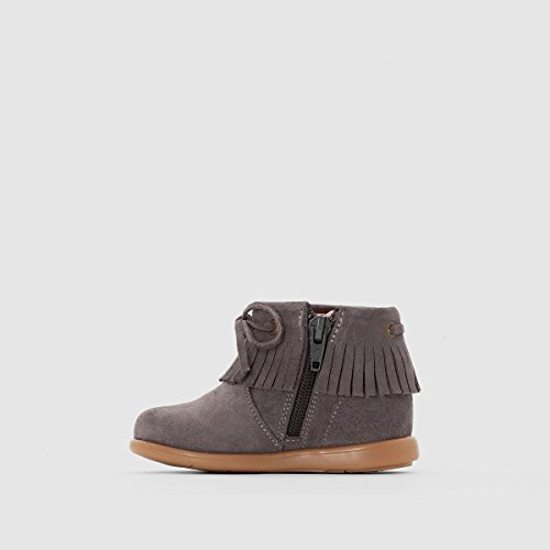 La Redoute Collections Big Girls Suede Ankle Boots Mouse Grey tr84lXA