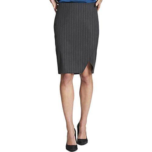 - DKNY Womens Professional Knee-Length Pencil Skirt Gray 8