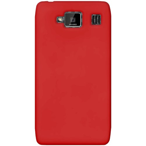 - Amzer AMZ95104 Silicone Jelly Skin Fit Case Cover for Motorola DROID RAZR MAXX HD XT926 - 1 Pack - Retail Packaging - Red