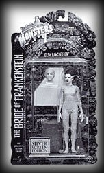 (Universal Studios Monsters Elsa Lanchester The BRIDE OF FRANKENSTEIN Universal Studios Classic Monster Silver Screen Edition Action Figure)