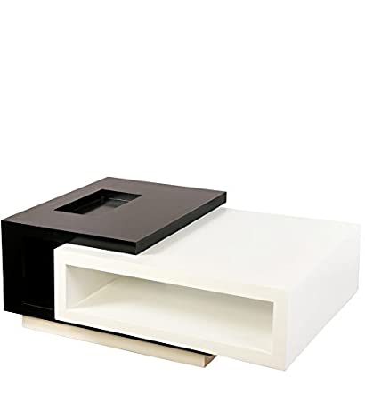 SMARVVV PRODUCTIONS Smart U0026 Stylish Rectangular Shaped In Black U0026 White  Colored Center Table In Standard