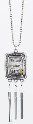 Ganz Rear View Mirror Car Charm Chime - Follow your heart