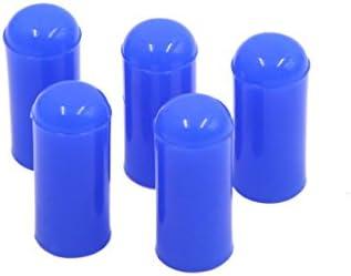 Sourcingmap 5 Stück 4 mm Silikon-Blindstopfen für Vakuumschläuche, Blau