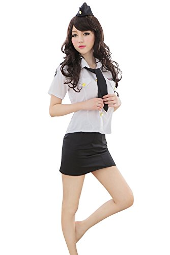 Shangrui Women's Uniform Temptation Racy Lingerie Nightclubs Clothes of Policewoman Cosplay Police Mounted (Police Uniforms For Sale)