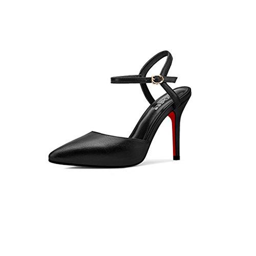 Rainbow hauts Sandales talons 2018 Stiletto Blanc Noir Chaussures à Couleur taille High Baotou 39 Heels 10cm Nouveau Noir 1qwtf0E