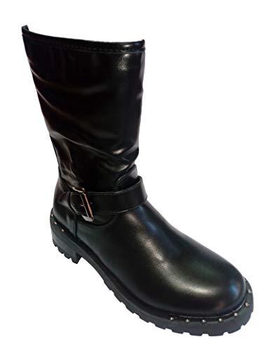 In Stivali Donna Stivale 39 Invernale Fashion Romeo Tg Pelle Gigli Nero xYpw4Hq1PO