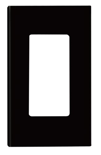 (Leviton 80301-SE 1-Gang Decora Plus Wallplate Screwless Snap-On Mount, Black)