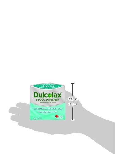 Dulcoease Stool Softener Liquid Gels 100 Count Gentle