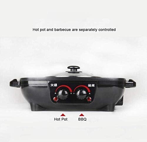 Grills électriques, multi-cuiseur 1300W, idéal pour la friture | Poêle électrique avec couvercle en verre et surface antiadhésive | Réglage de la chaleur et poignées Cool Touch