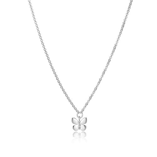 Molly B London | 925 Sterling Silver & White Topaz Butterfly Necklace