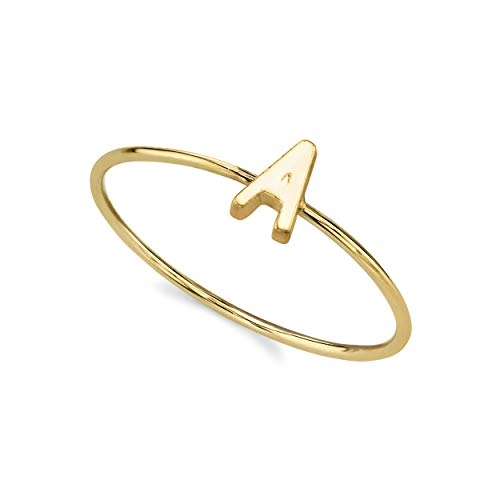1928 Jewelry 14k Gold Dipped Initial Monogram Letter Ring Size 7