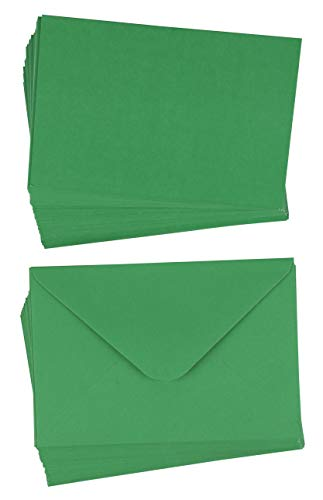 48-Pack Blank Greeting Cards - Plain Cards and Matching Color Envelopes for DIY Christmas Holiday Cards, Thank You Cards, Party Invitation, Birthday, Wedding, Green, 4 x 6 Inches Blank Christmas Holiday Invitations
