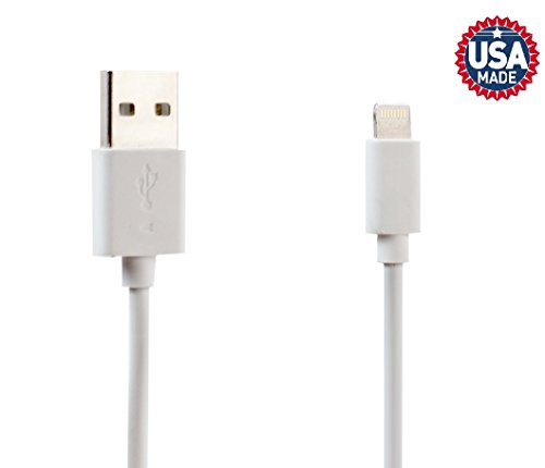 WilVibe IOS Lightning 2A USB Heavy Duty Charging Cable 6ft iPhone X 8 8Plus 7 7Plus 6s 6sPlus 6 6Plus SE 5 5s 5c iPad iPod & More (White)