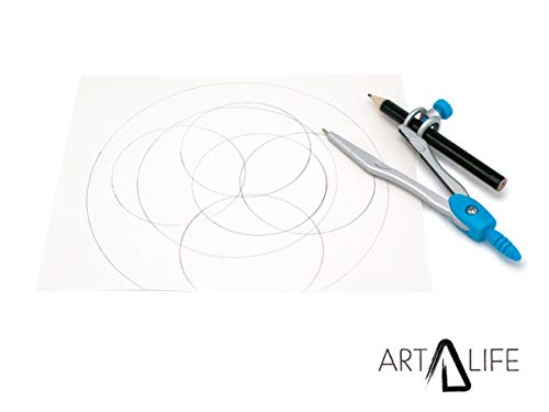 ArtLife - 10 Pcs Compass Set, Geometry Set for Students, Geometry Set for School, Divider, Set Squares, Ruler, Protractor, Compass Math, Compass and Protractor, Eraser by ArtLife (Image #3)