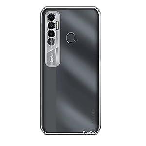 BuyFeb Mobile Back Cover Case Compatible for Tecno Spark 7 Pro (Silicon Soft Transparent)