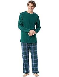 Pajamas for Men Flannel - Plaid Mens Christmas Pajamas, Thermal Top