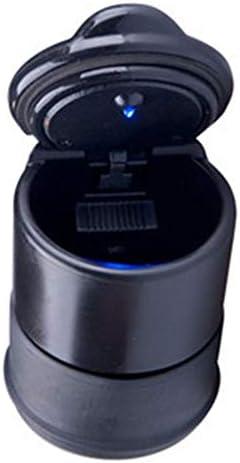 EUEMCH LEDの軽い車の灰皿が付いているLEDの携帯用車の灰皿のゴミ箱