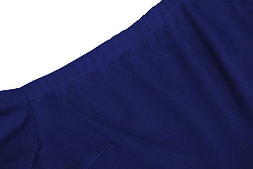 Manicotto Donne Demetory Fredda Pattinatore Reale Vestito Spalla Alta Delle Azzurro Basso Della 7rxEvqSwa7