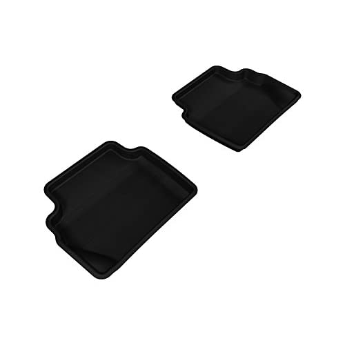 Cheap 3D MAXpider Second Row Custom Fit Floor Mat for Select Ford Fiesta Hatchback Models - Kagu Rubber (Black)
