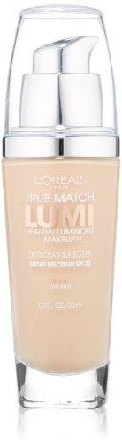 L'Oreal Paris True Match Lumi Healthy Luminous Makeup, Soft Ivory/Classic Ivory, 1 fl. oz.