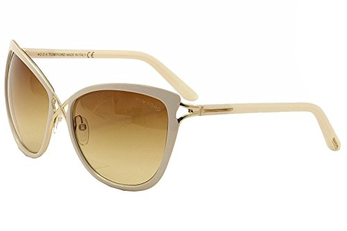 Tom Ford Ft322-32F-59 Women's Celia Cat Eye White - Ford Sunglasses Tom White