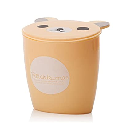 Moolecole Fashion Creative Cute Bear Plastic Trash Bin Waste Bin Table Office Desk Mini Dustbin Trash Can